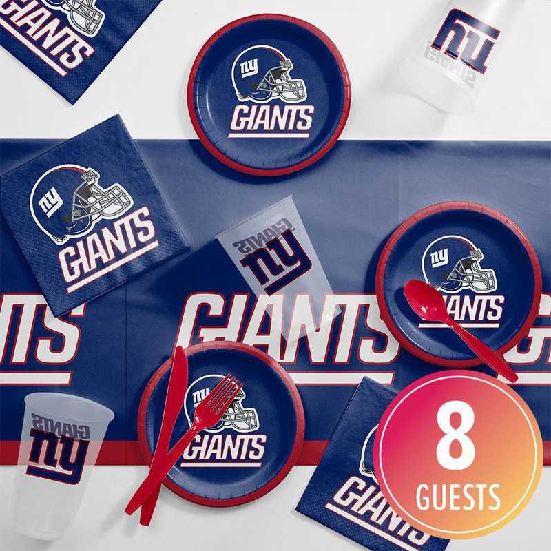DTC9521C2B: CC New York Giants Tailgating Kit 8 ct