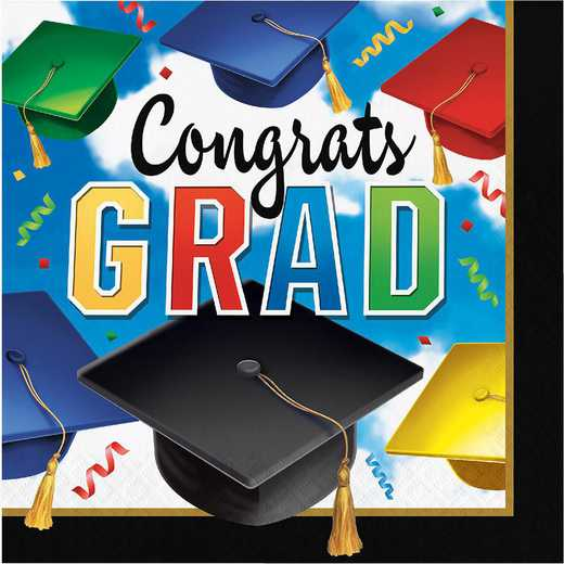 DTC327336NAP: CC Graduation Celebration Napkins - 48 Count