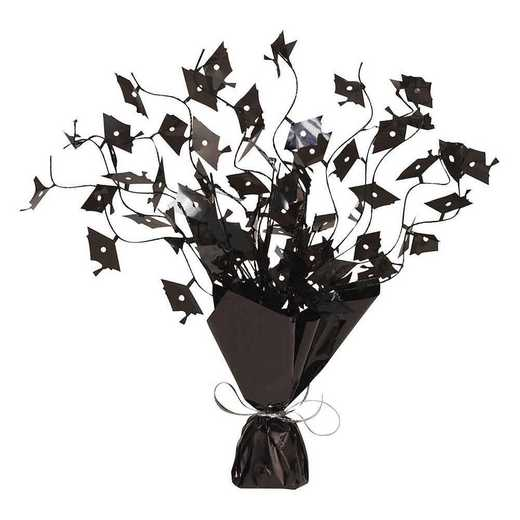 DTC263004CNTR: Black Foil Spray Mortarboard Graduation Centerpieces