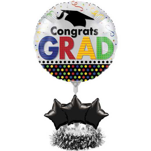DTC268804CNTR: Graduation Balloon Centerpiece Kits