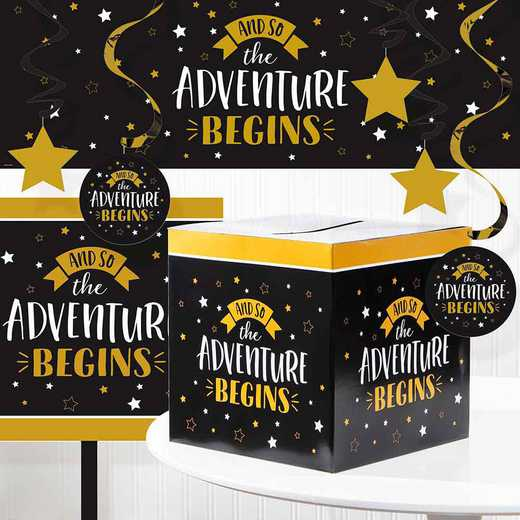 DTC4992E1A: Grad Adventure Decorations Kit