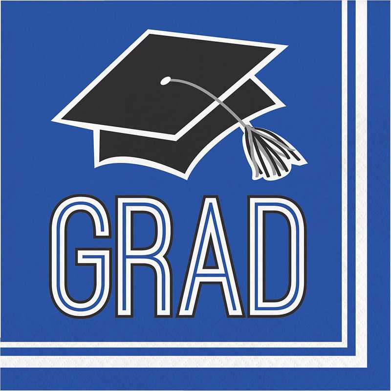 DTC320050NAP: CC Graduation School Spirit Blue Napkins