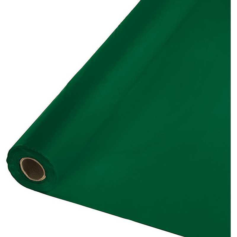 763124: CC Hunter Green Plastic Banq Roll -100'