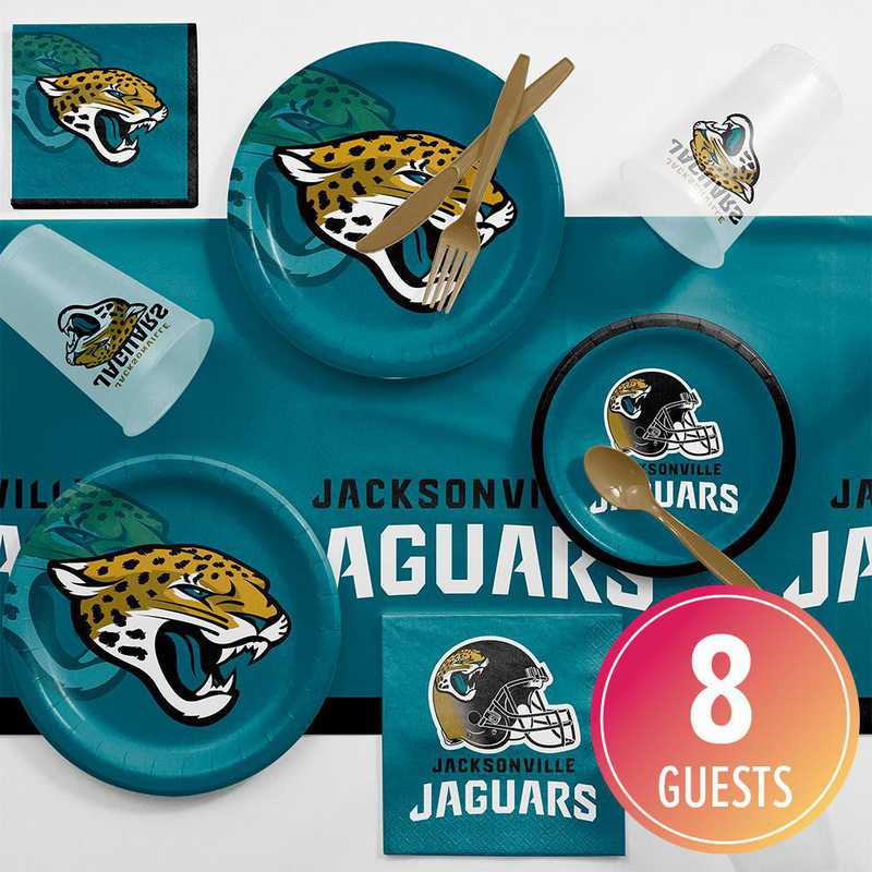 DTC9515C2A: CC Jacksonville Jaguars Game Day Party Supplies Kit 8ct
