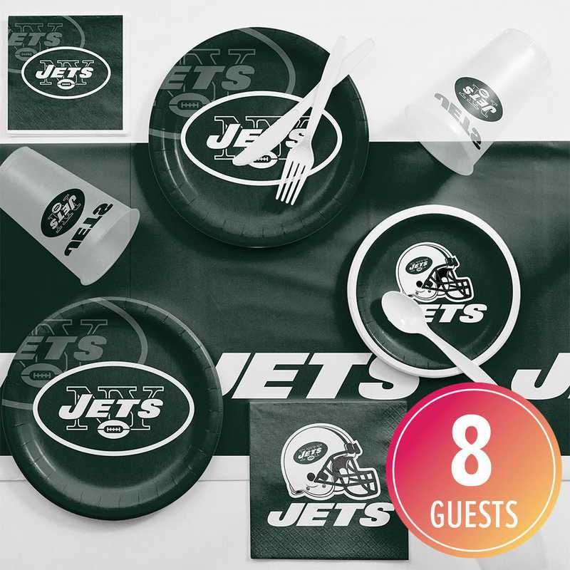 DTC9522C2A: CC New York Jets Game Day Party Supplies Kit 8ct
