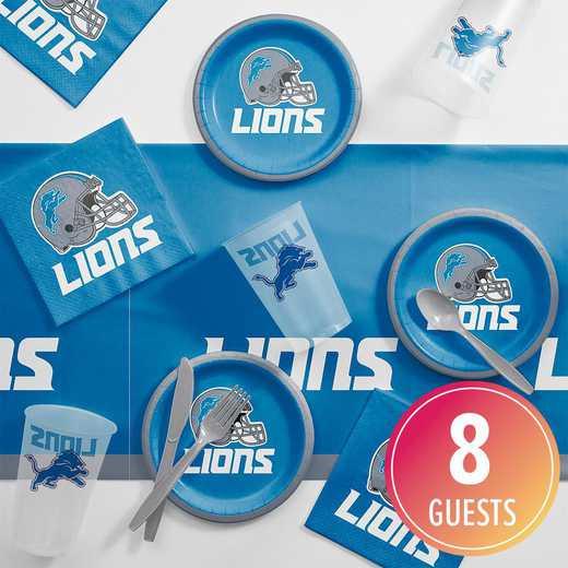 DTC9511C2B: CC Detroit Lions Tailgating Kit 8 ct