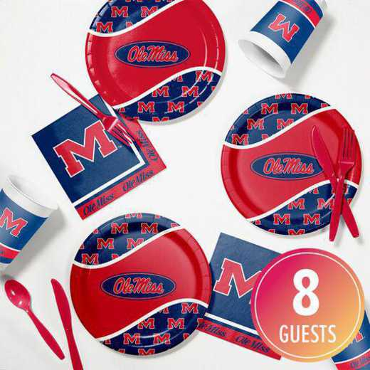 DTC4893C2B: CC University of Mississippi Tailgating Kit 8ct