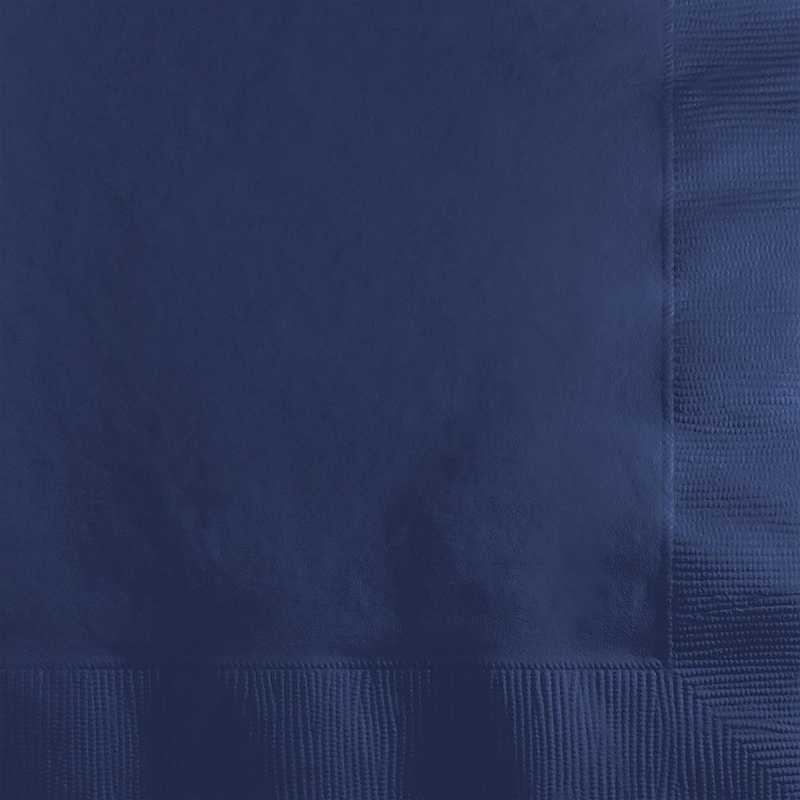 251137: CC Navy Blue Beverage Napkins - 200 Cnt