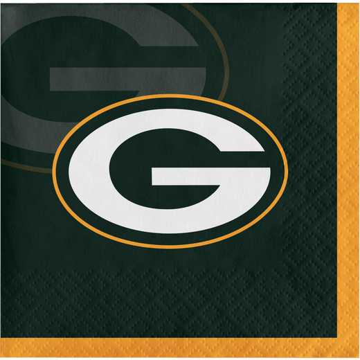 DTC659512BNAP: CC Green Bay Packers Beverage Napkins