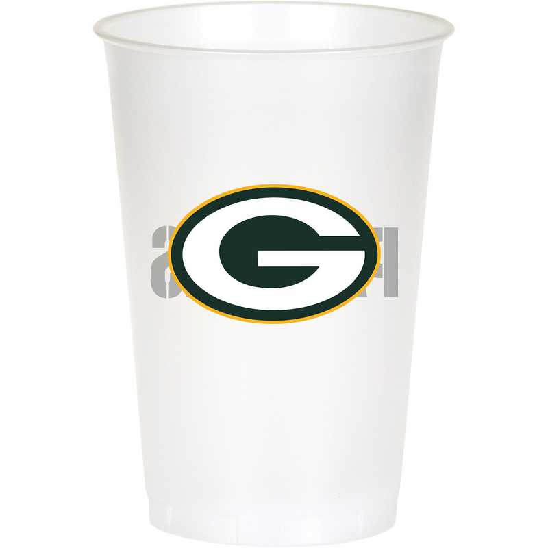 DTC019512TUMB: CC Green Bay Packers Plastic Cups