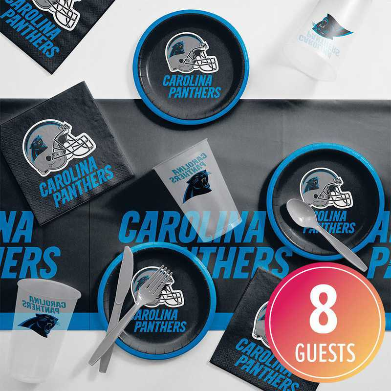 DTC9505C2B: CC Carolina Panthers Tailgating Kit 8 ct