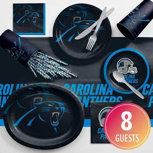 DTC9505C2C: CC Carolina Panthers Ultimate Fan Party Supplies Kit 8ct