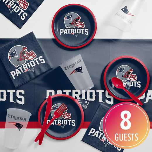DTC9519C2B: CC New England Patriots Tailgating Kit 8 ct