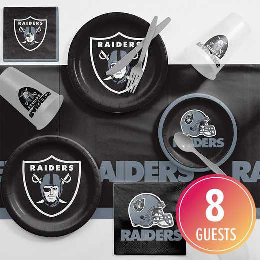 DTC9523C2A: CC Oakland Raiders Game Day Party Supplies Kit 8ct