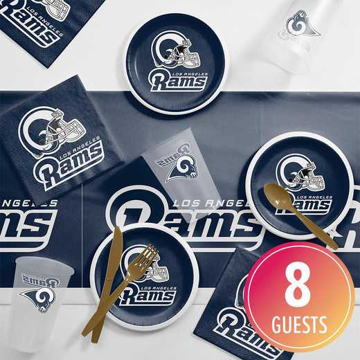 DTC9529C2E: CC Los Angeles Rams Tailgating Kit 8 ct