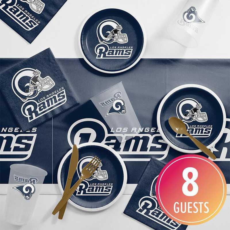 DTC9529C2E: CC Los Angeles Rams Tailgating Kit 8 ct
