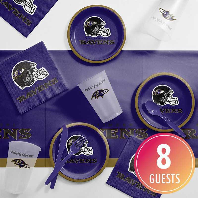 DTC9503C2B: CC Baltimore Ravens Tailgating Kit 8 ct