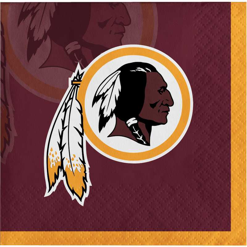 DTC335911BNAP: CC Washington Redskins Beverage Napkins