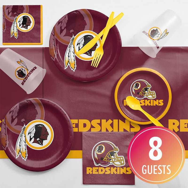 DTC9532C2D: CC Washington Redskins Game Day Party Supplies Kit 8ct