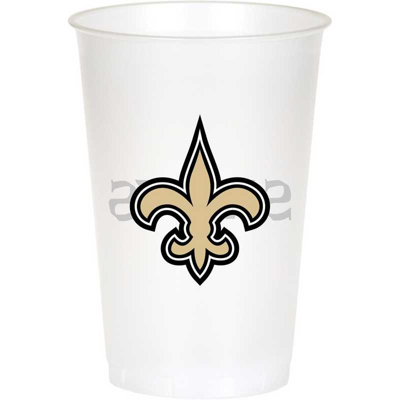 DTC335905CUP: CC New Orleans Saints 20 oz. Plastic Cups