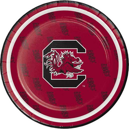 DTC414890PLT: CC University of South Carolina Dessert Plates - 24 Count