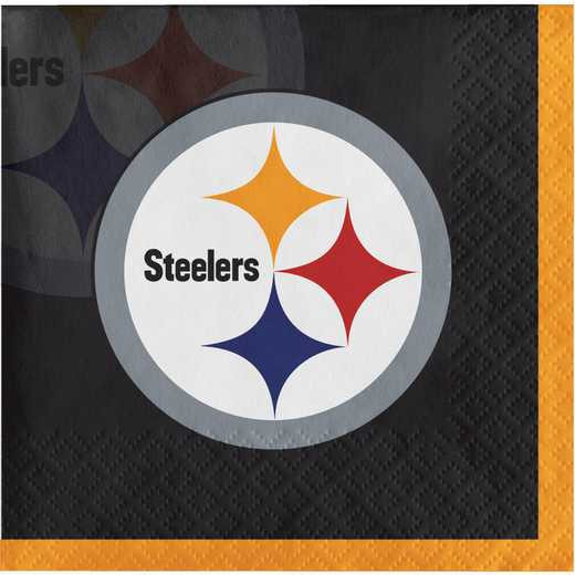 DTC659525BNAP: CC Pittsburgh Steelers Beverage Napkins