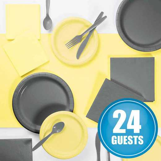 DTCMMGRY2A: Gray and Mimosa Yellow Party Supplies Kit