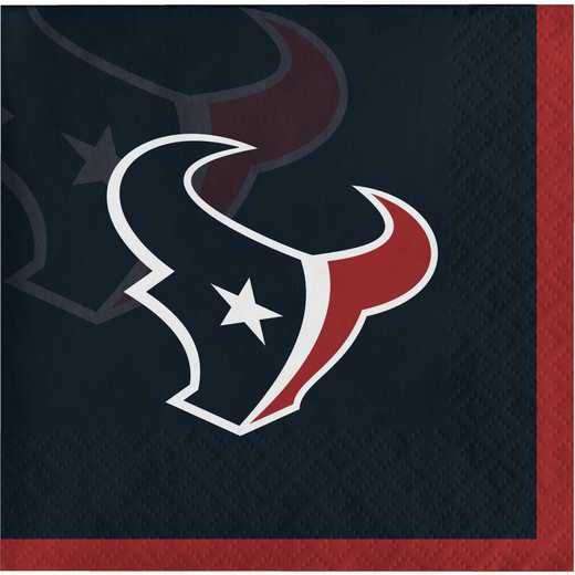 DTC659513BNAP: CC Houston Texans Beverage Napkins