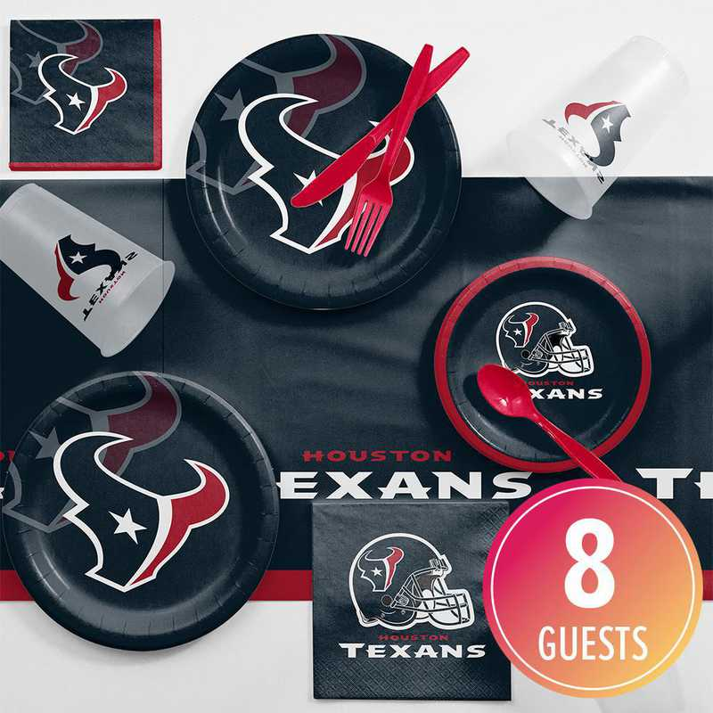 DTC9513C2A: CC Houston Texans Game Day Party Supplies Kit 8ct