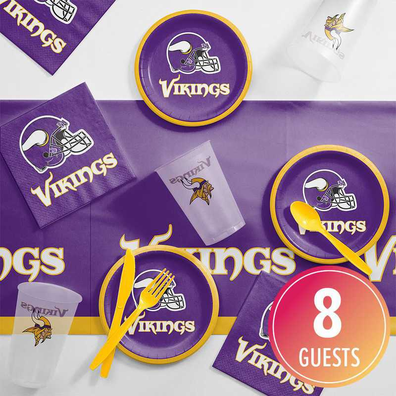 DTC9518C2B: CC Minnesota Vikings Tailgating Kit 8 ct