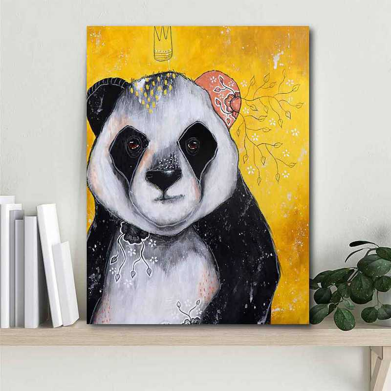 Of Fur and friendship Gallery-Wrapped Canvas Wall Art