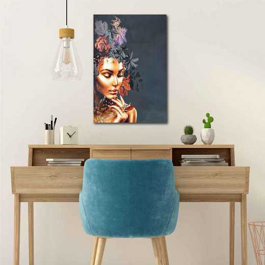 Golden couture  Gallery-Wrapped Canvas Wall Art