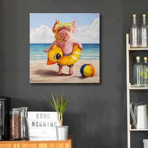 Baked Ham  Gallery-Wrapped Canvas Wall Art