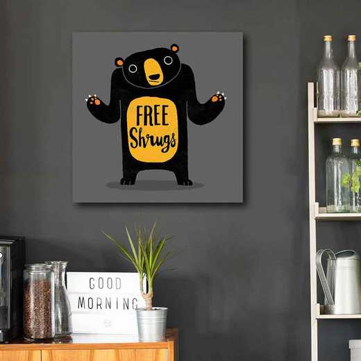 Free Shrugs  Gallery-Wrapped Canvas Wall Art