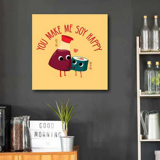 Soy Happy  Gallery-Wrapped Canvas Wall Art