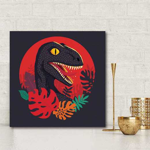Tropic Raptor  Gallery-Wrapped Canvas Wall Art