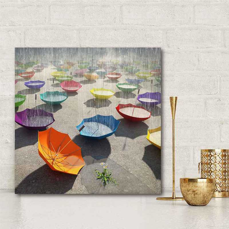 Downpour  Gallery-Wrapped Canvas Wall Art