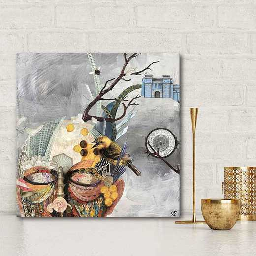 Buzz Brain  Gallery-Wrapped Canvas Wall Art