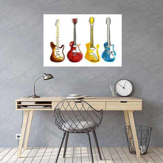 "DEC-TS580-24x36: CM DormDigs™ Wall Decals Electric Guitar 24""x36"""