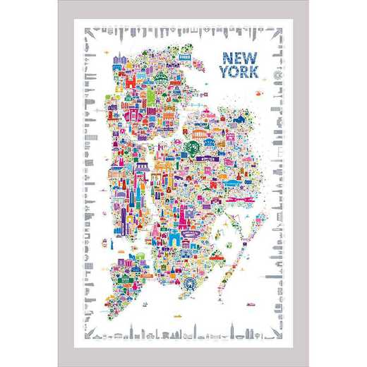 "DEC-TS586-24x36: CM DormDigs™ Wall Decals  Map- New York City 24""x36"""