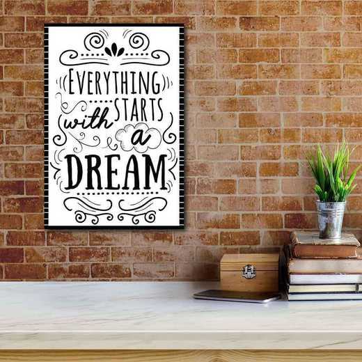 Everything starts with smarts  Gallery-Wrapped Canvas Wall Art