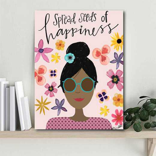 So the seeds of happiness  Gallery-Wrapped Canvas Wall Art