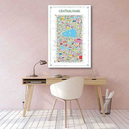 Map New York Cityl-Central Park  Gallery-Wrapped Canvas Wall Art