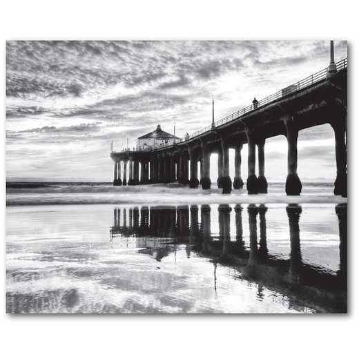 "Manhattan Beach Pier-California 16""x20"" Gallery-Wrapped Canvas Wall Art"