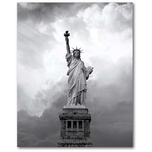 "Majestic Lady Liberty 16""x20"" Gallery-Wrapped Canvas Wall Art"