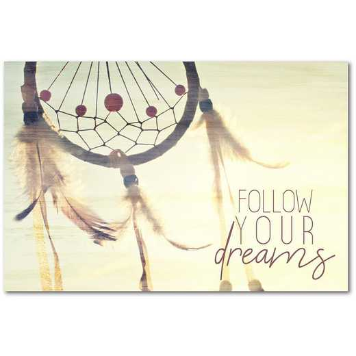 "Follow Your Dreams 12""x18"" Gallery-Wrapped Canvas Wall Art"