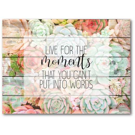 "Live for the Moments 16""x20"" Gallery-Wrapped Canvas Wall Art"