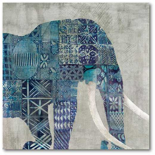 "Botswana Patterns 16""x16"" Gallery-Wrapped Canvas Wall Art"