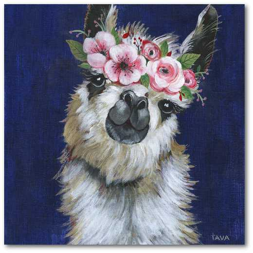 "Llama power 16""x16"" Gallery-Wrapped Canvas Wall Art"