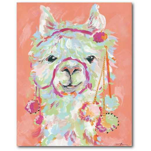 "Llama 16""x20"" Gallery-Wrapped Canvas Wall Art"